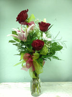 3 Rose and Stargazer Lily
