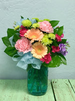 country vintage flower arrangement clovis florist mother's day delivery