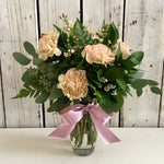 long lasting blush flowers carnations mother's day delivery fresno clovis