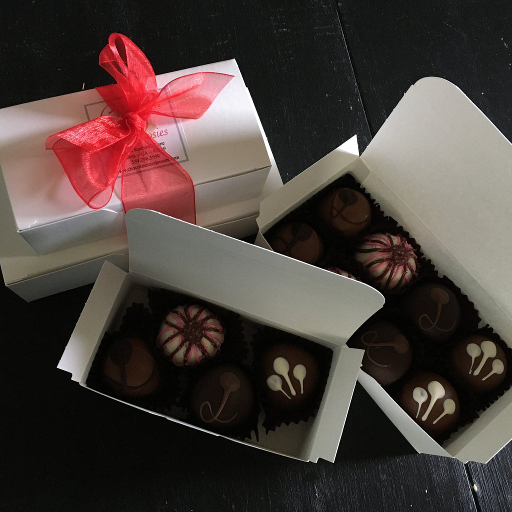 assorted gourmet chocolate truffles mother's day clovis fresno contactless delivery