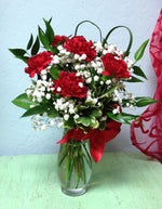 long lasting red carnations