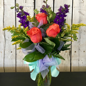 colorful spring flower arrangement