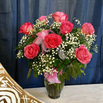 1 dozen long stem pink roses clovis ca delivery local florist