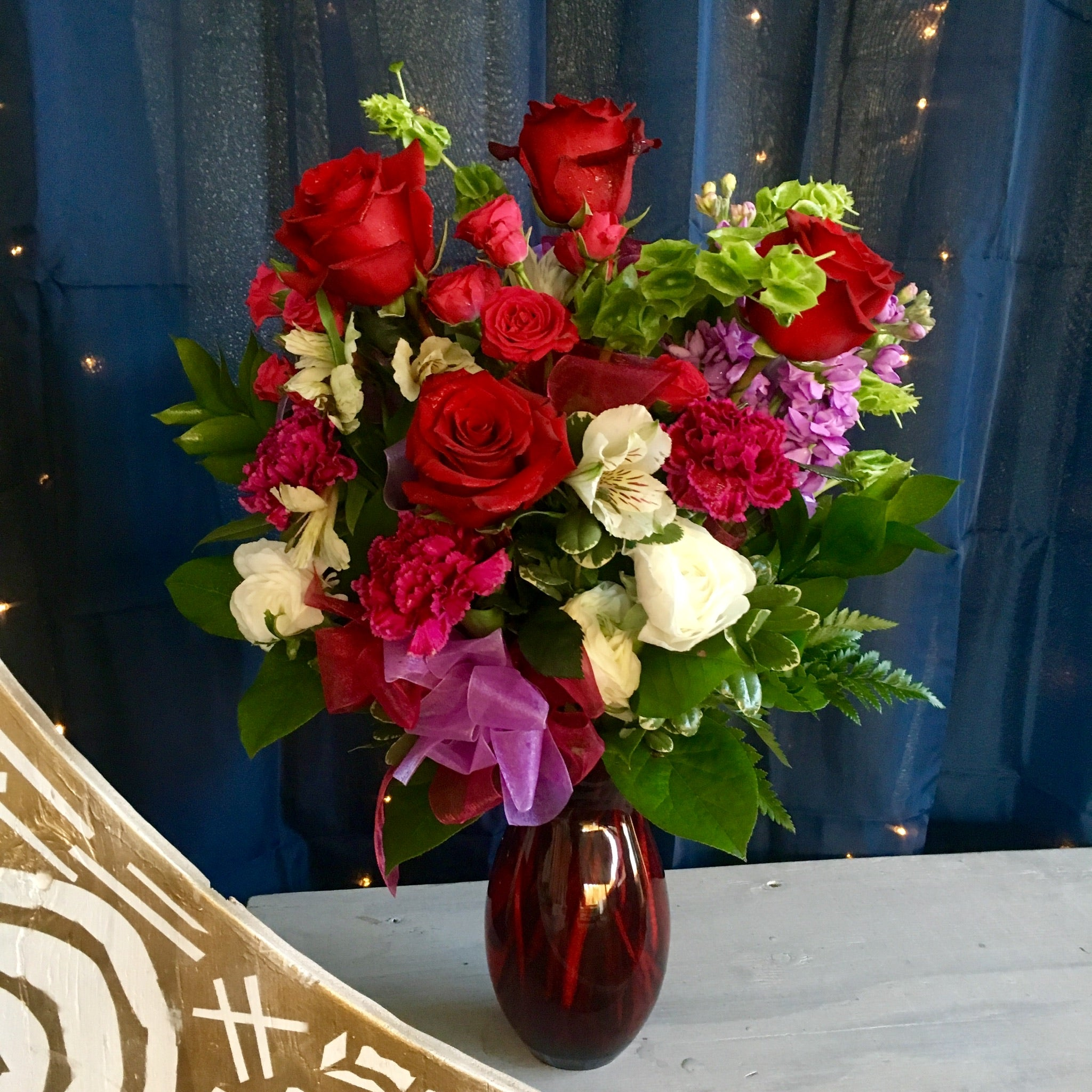 red, pink, purple and white valentine's flowers clovis fresno deliverys