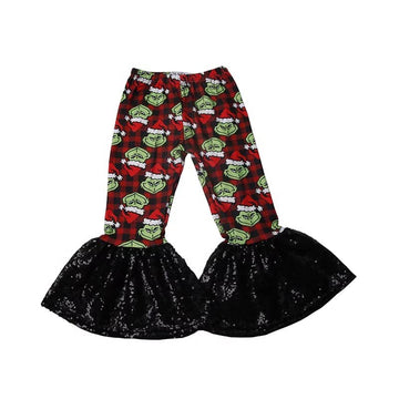 Grinch Bell Bottoms