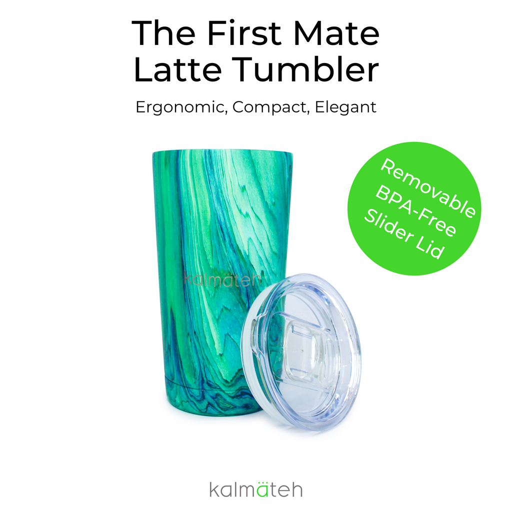 Marble Yerba Mate Latte Tumbler With 2 Straws