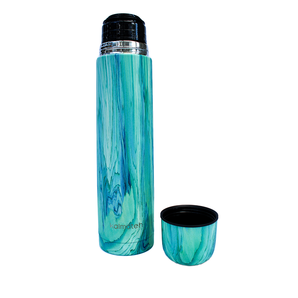 Turquoise Thermos + 2 Travel Tumblers
