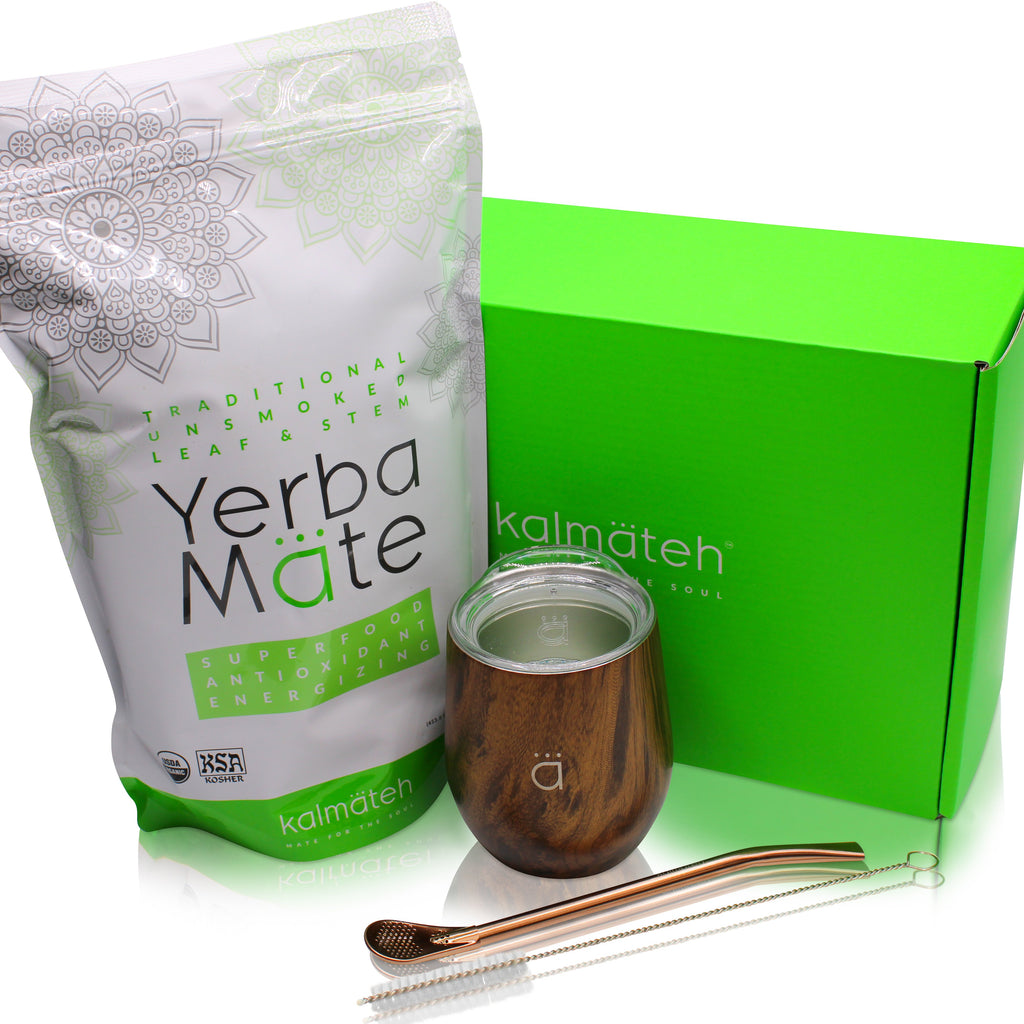 Yerba Mate Starter Set- Wood (8 oz.)