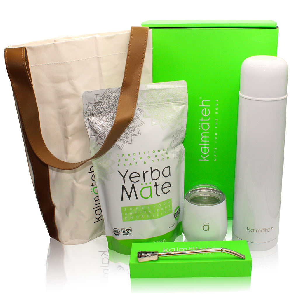 Yerba Mate Kit by Kalmateh - White
