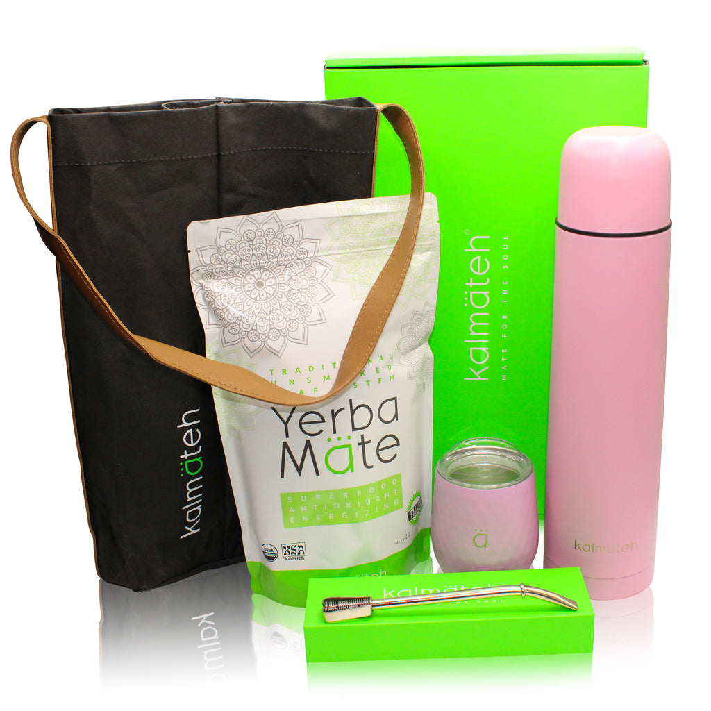 Yerba Mate Kit by Kalmateh - Pastel Pink