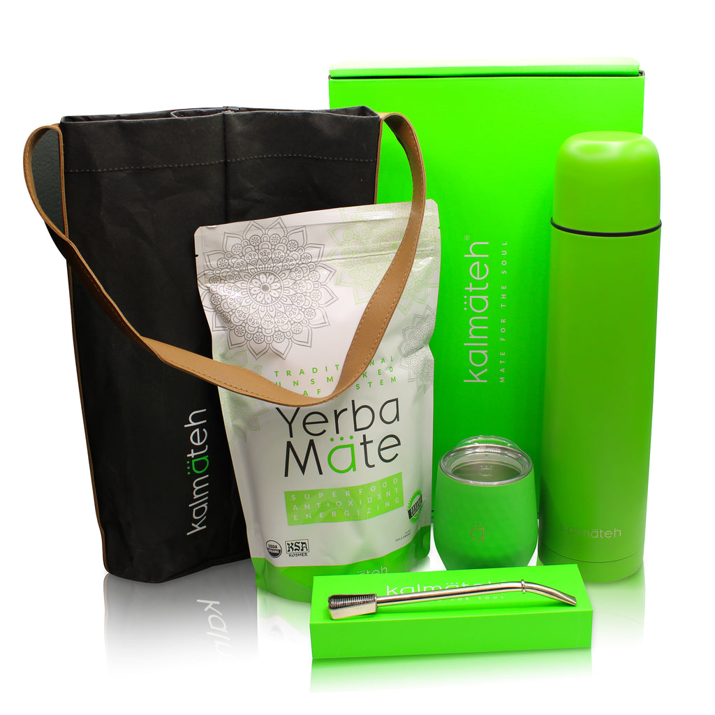 Yerba Mate Kit by Kalmateh - Neon Green