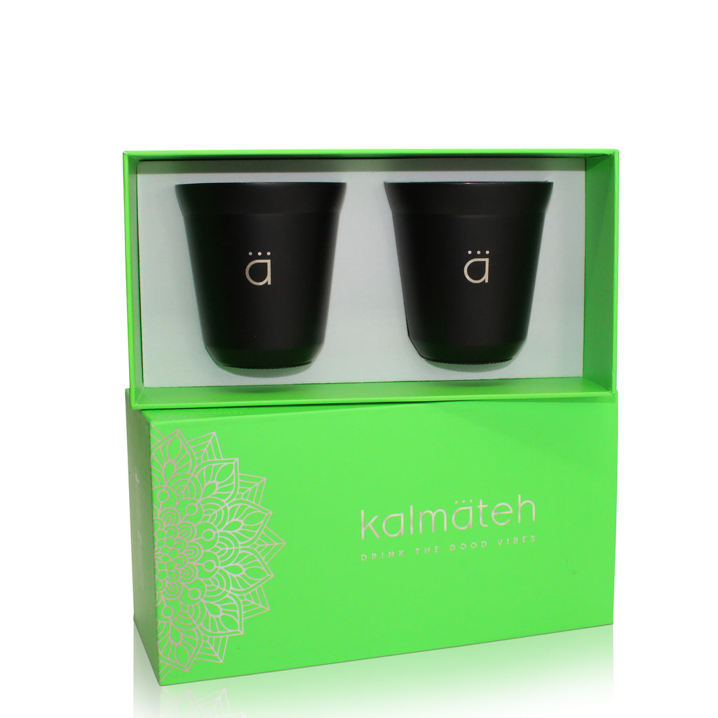 Matte Black Coffee Cups- Set of 2 (5 oz)