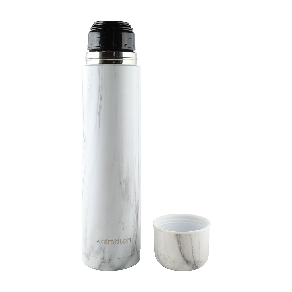 Marble Thermos + 2 Travel Tumblers