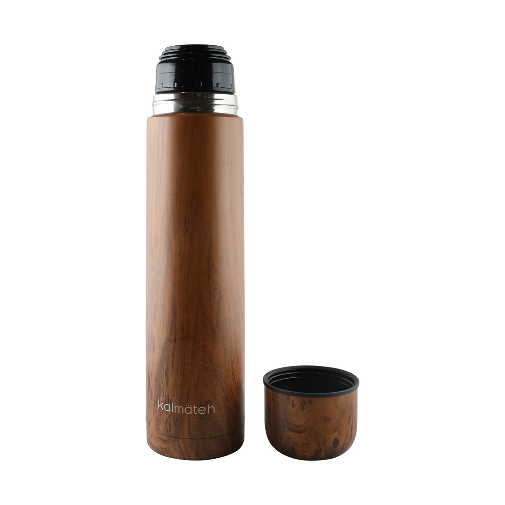 Wood Thermos + 2 Travel Tumblers