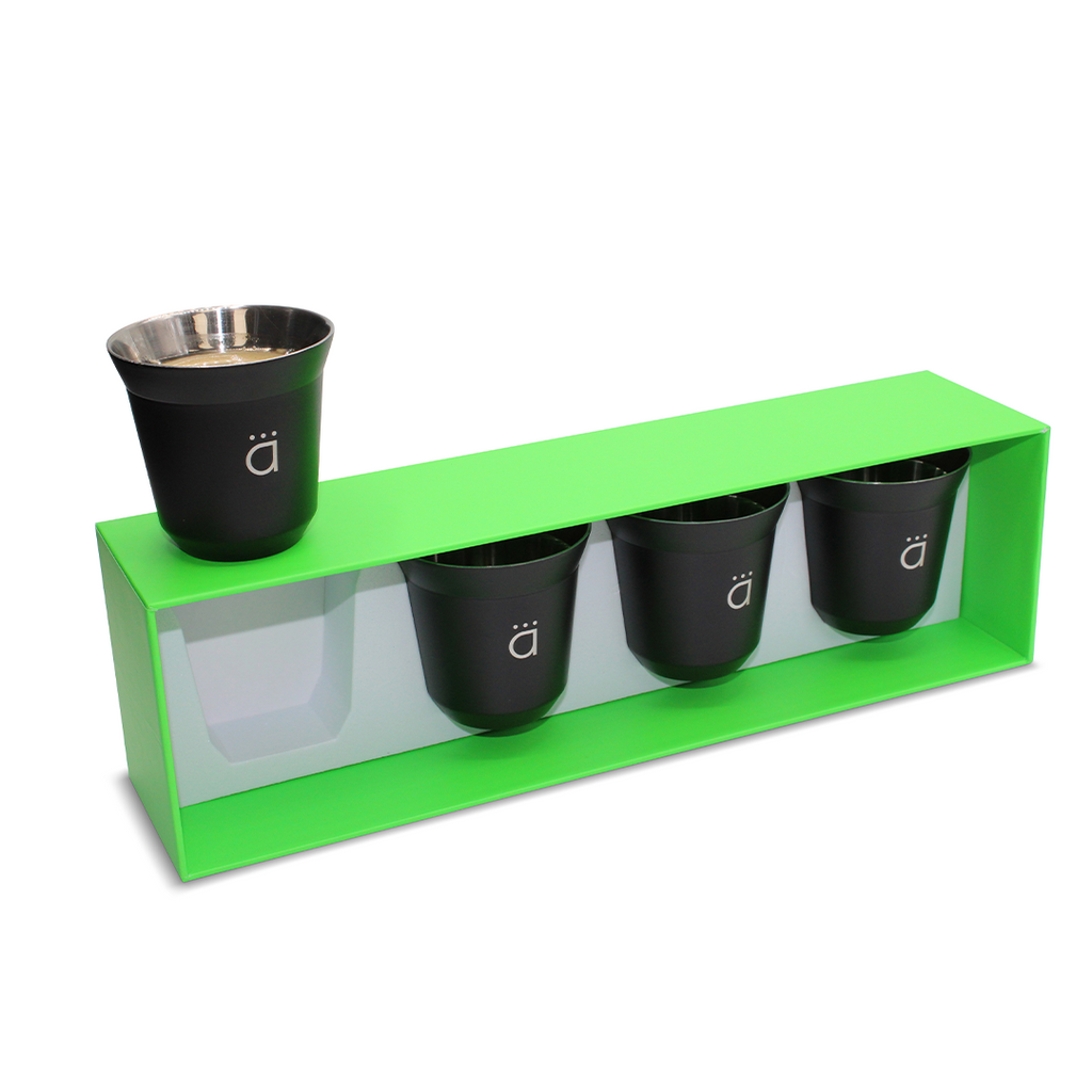 Matte Black Espresso Coffee Cups (Set of 4)