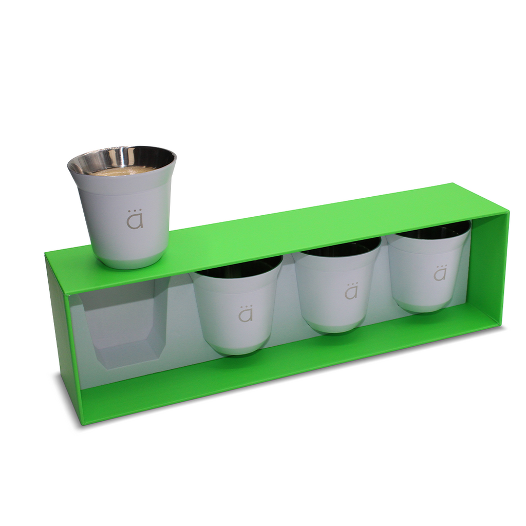 White Espresso Coffee Cups (Set of 4)