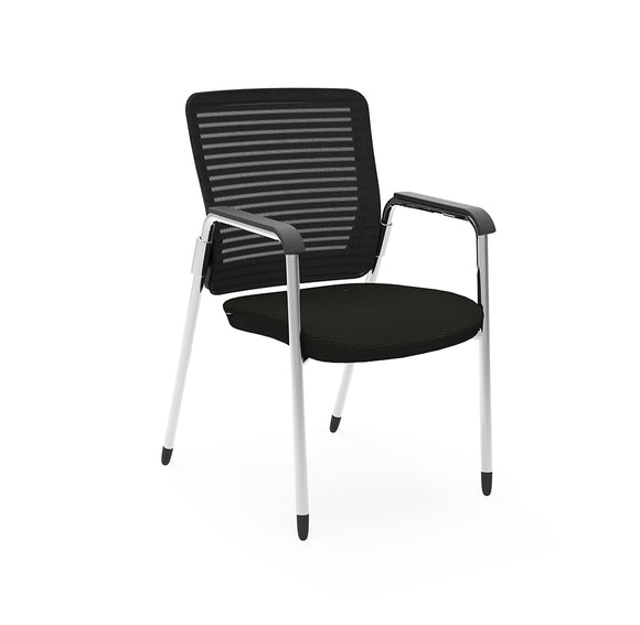 Cherryman Eon Black Mesh Back Side Chair (New)