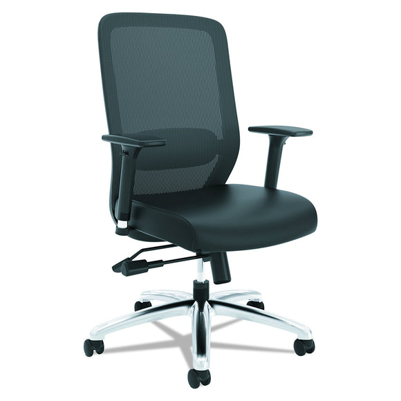 Ergonomic Mesh Chair with Leather Seat (New)