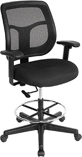 Eurotech Black Stool Mesh Back (New)