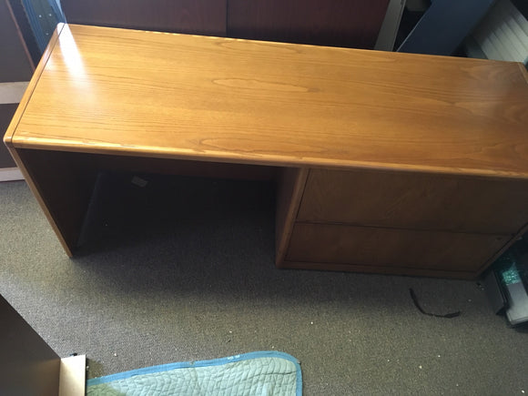 Oak Credenza with Lateral File