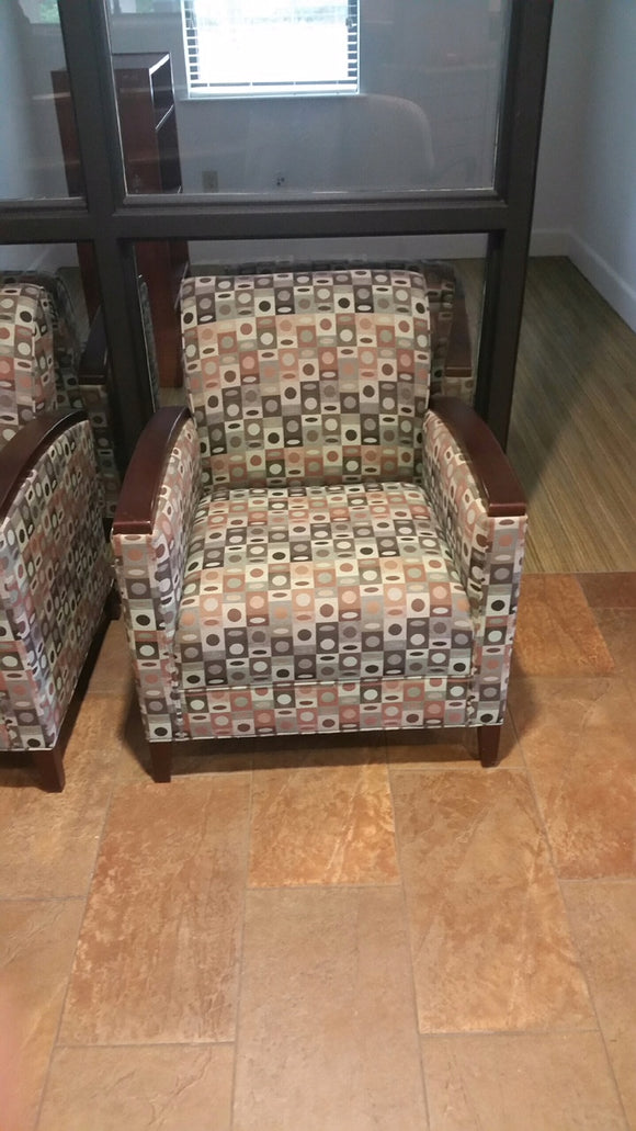 St. Timothy Large Patterned Lobby chair