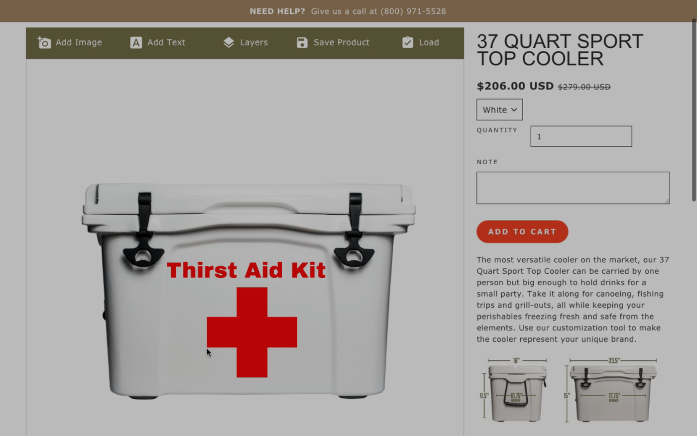 Thirst Aid Kit Cooler, Personalized Cooler