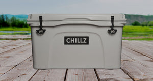 Private branded cooler with Chillz logo