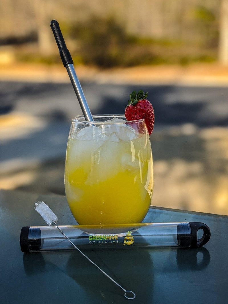 Reusable Stainless Steel Straw - GreenHive Collective - ECO-FRIENDLY APPAREL