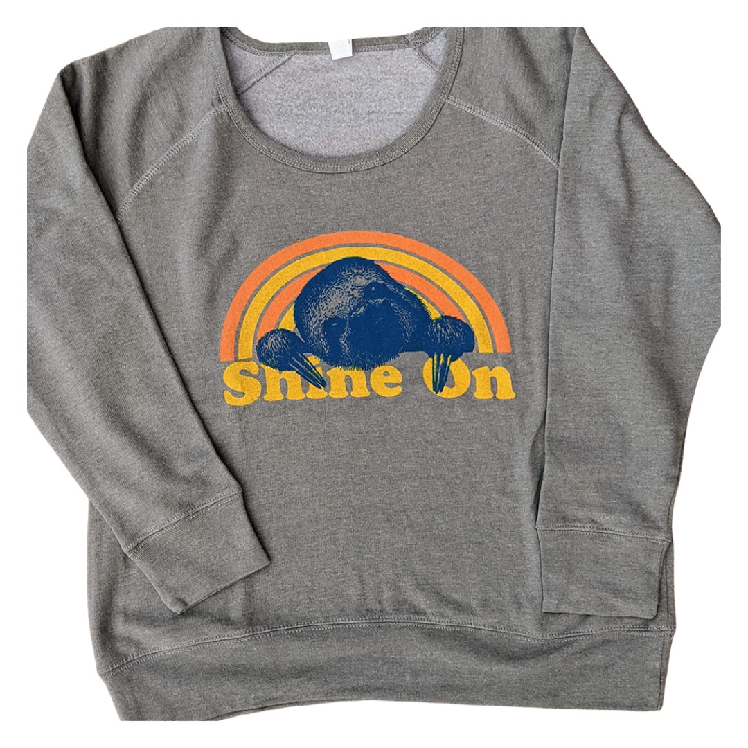 """Shine On"" Sloth - Ladies Fleece Pullover"