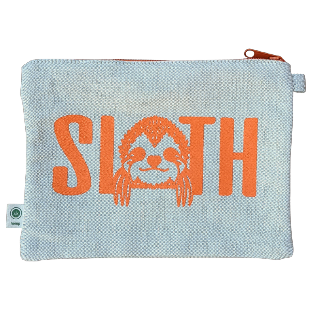 Natural Hemp Bag - Sloth