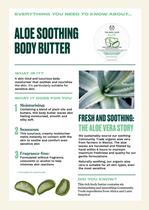 The Body Shop - Aloe Soothing Body Butter