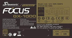 Seasonic Focus GX 1000 1000W 80 Gold Full Modular Fan Control in Fanless Silent and Cooling Mode