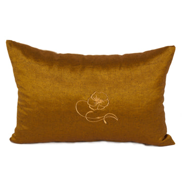Mustard Yellow Kutnu Lumbar Pillow