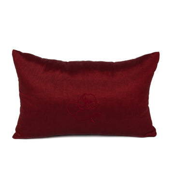 Red Gray Kutnu Lumbar Pillow