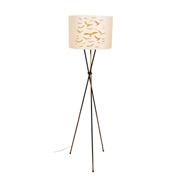 GOLD BIRD EMBROIDERED FLOOR LAMP