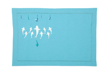 What's on the menu Turquoise Linen American Service