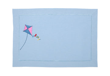 Kite Light Blue Linen American Service