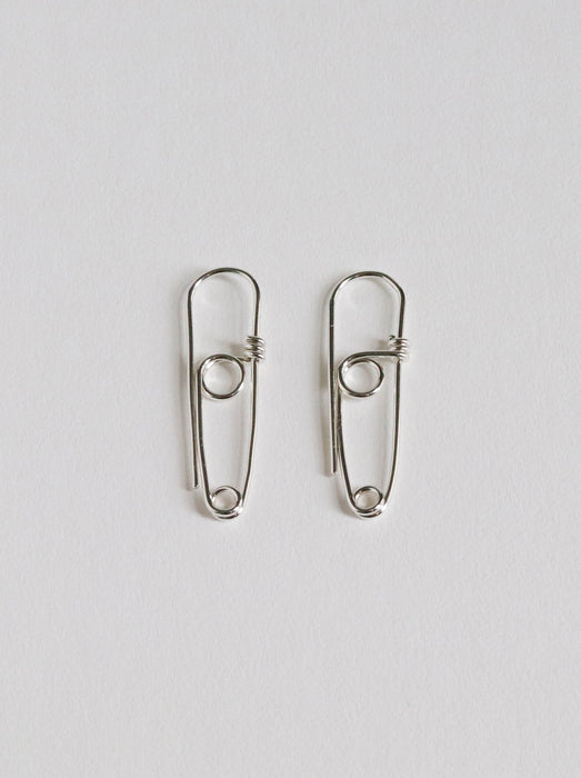 Pin Earring-Sterling Silver
