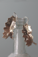 Load image into Gallery viewer, fold formed 14k gold plated leaf earrings