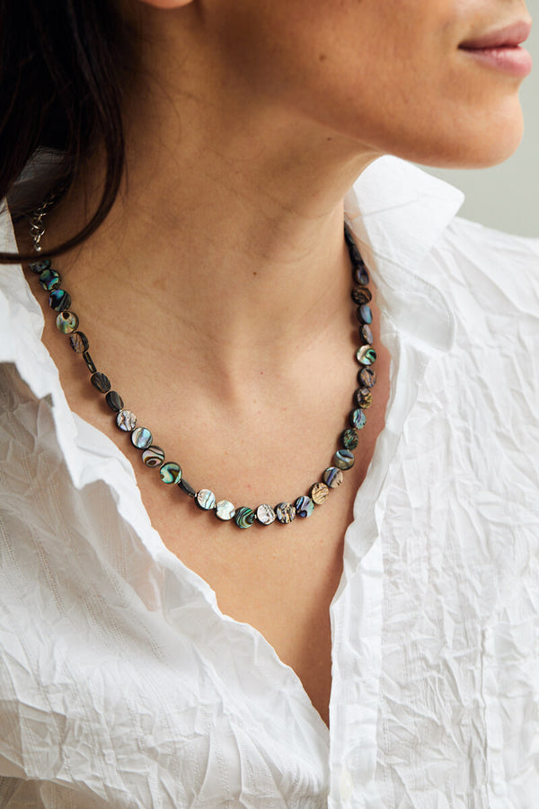 Amari Abalone Choker Necklace