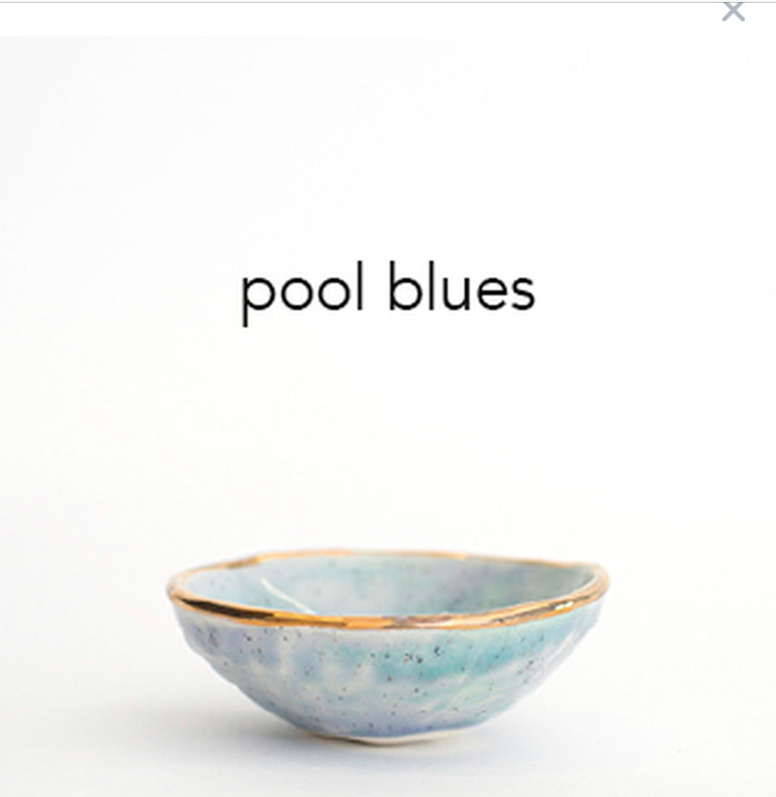 Pool Blues with Gold Lustre