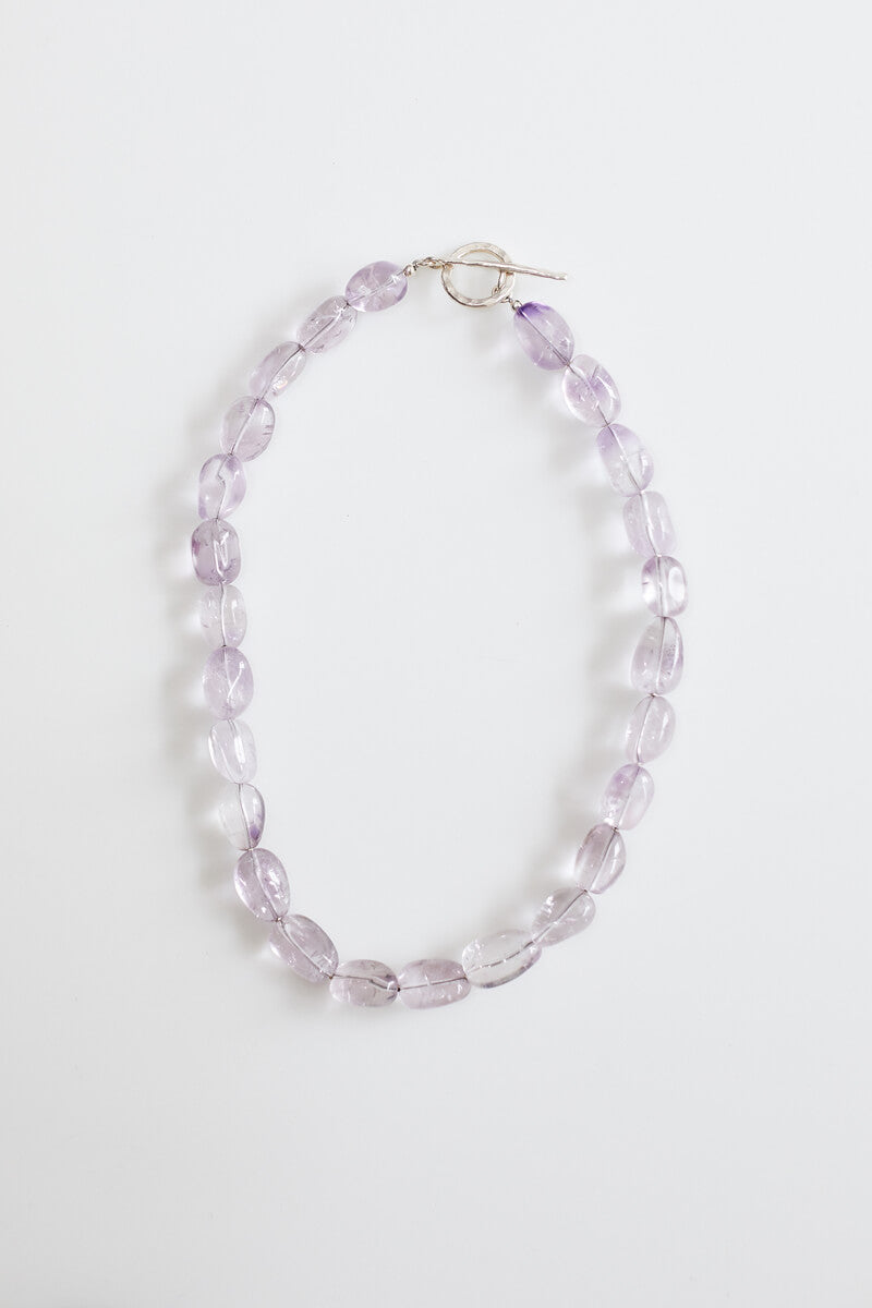 Lynda Amethyst Necklace with Silver Toggle