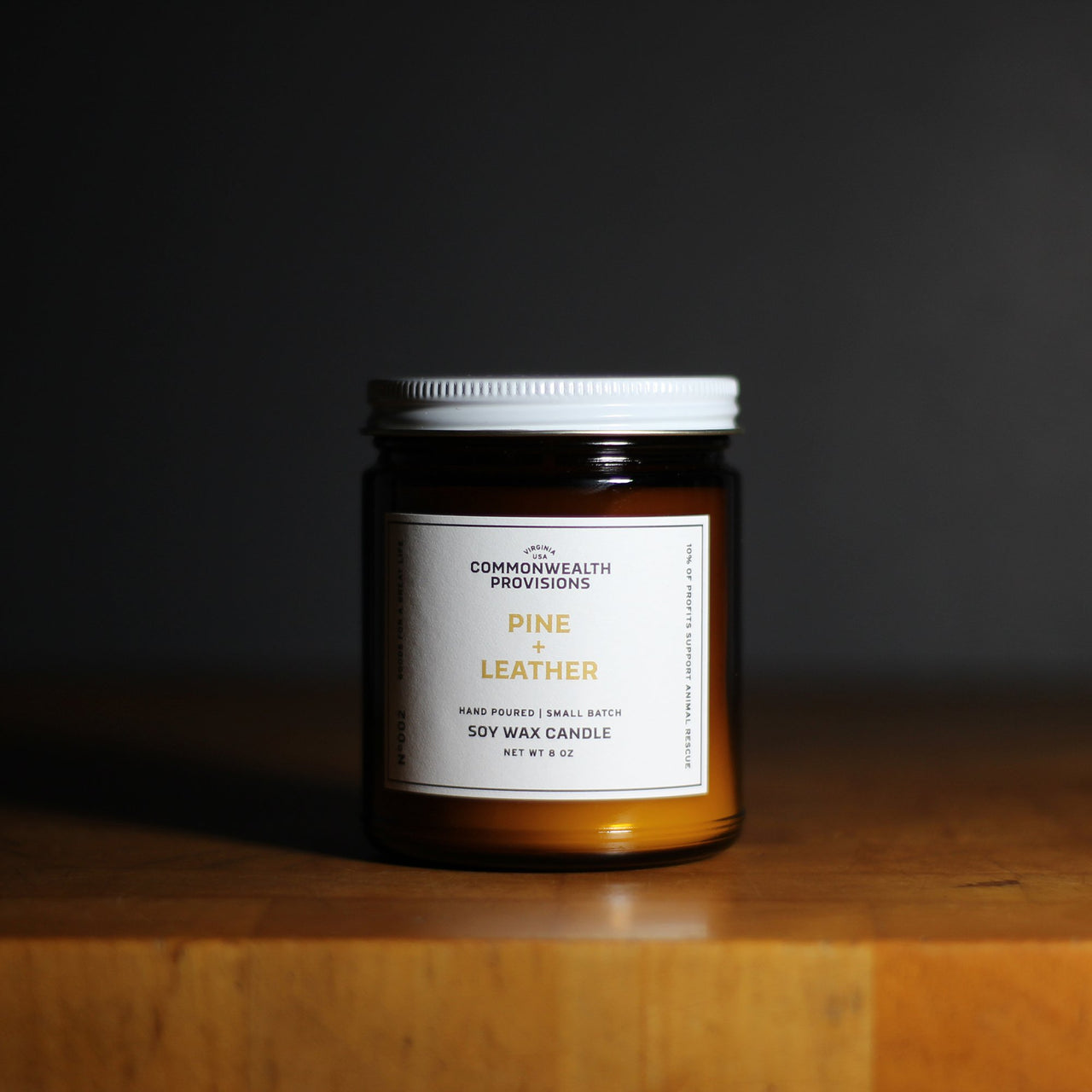 Pine & Leather - Soy Wax Candle