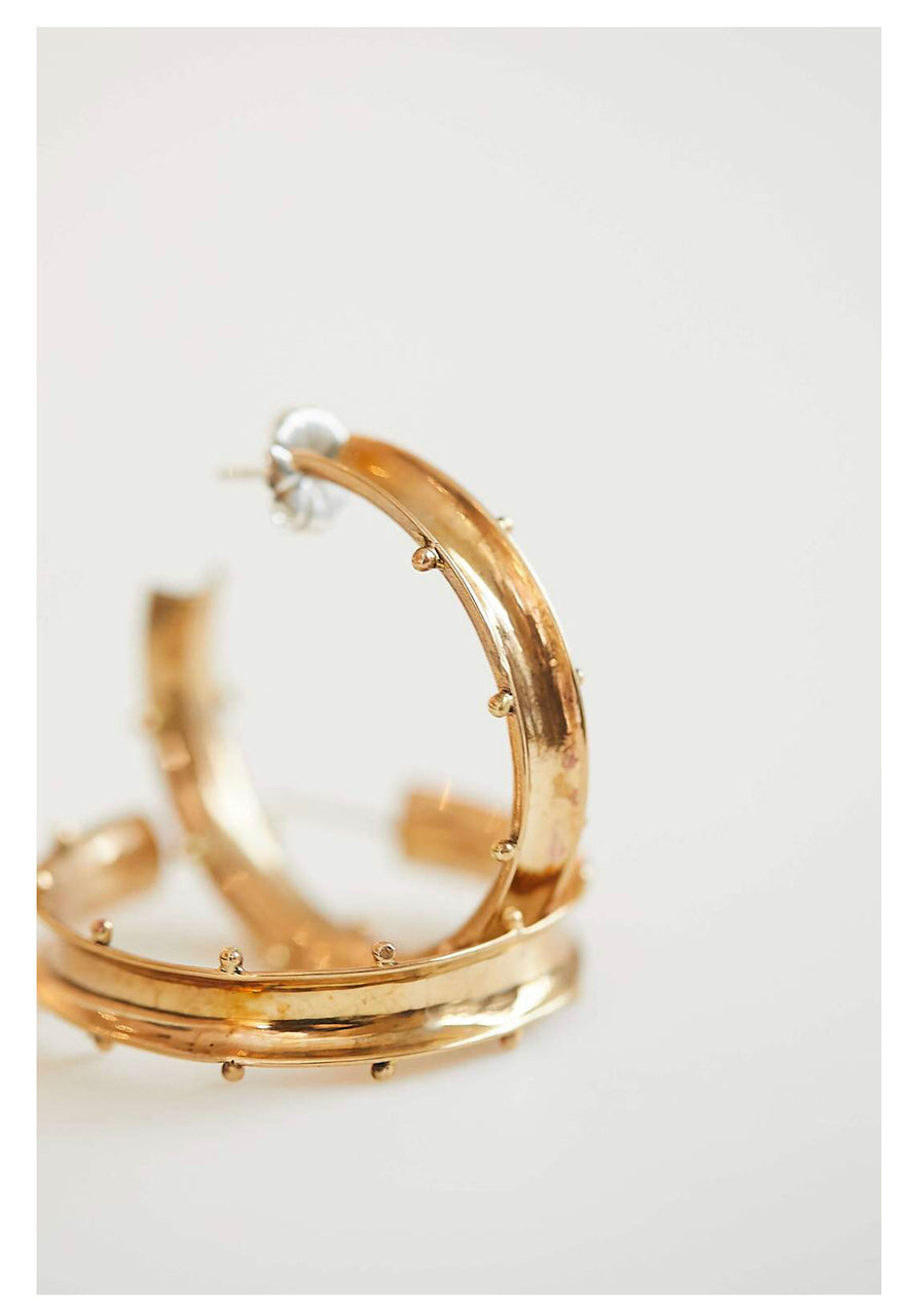Tate Brass Hoop Earrings