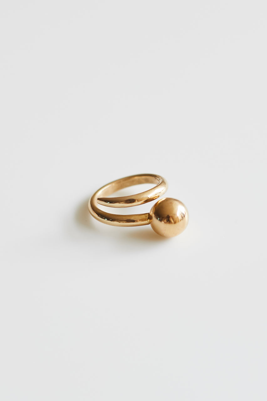 Brass Dot Wrap Ring