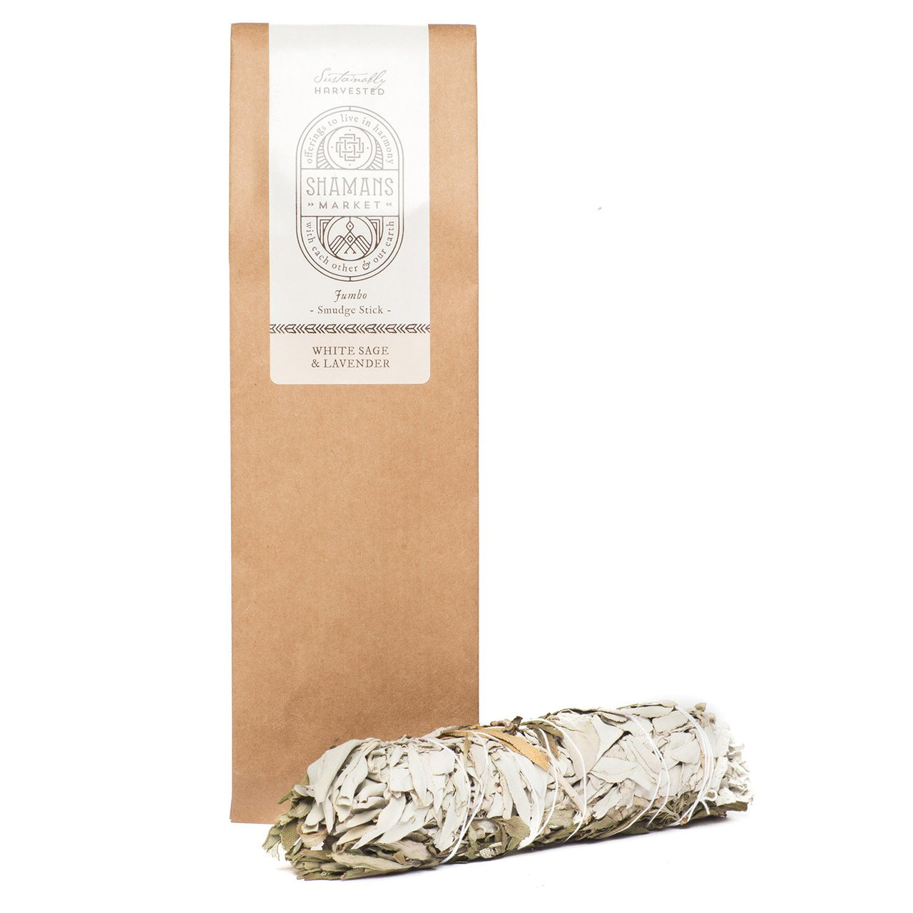 A mix of California White sage and Lavender. Can be used in a ritual ceremony, house cleansing or simply for aroma pleasure.