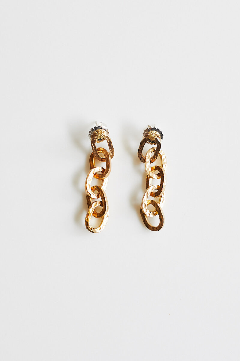 Peytra Brass Chain Earrings
