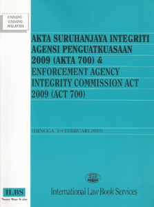 Enforcement Agency Integrity Commission Act 2009(Act 700)
