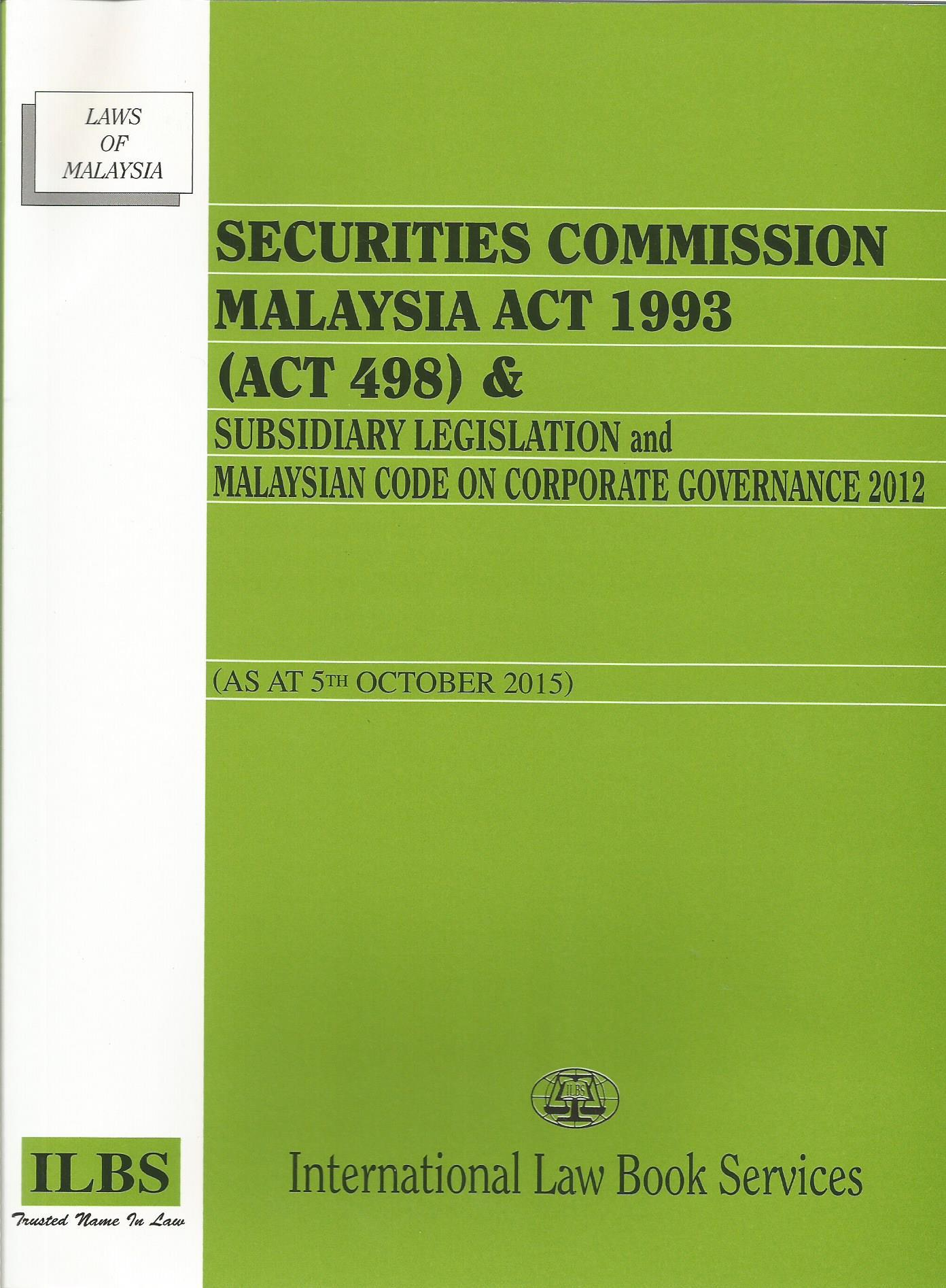 SECURITIES COMMISSION MALAYSIA ACT 1993 (ACT 498)