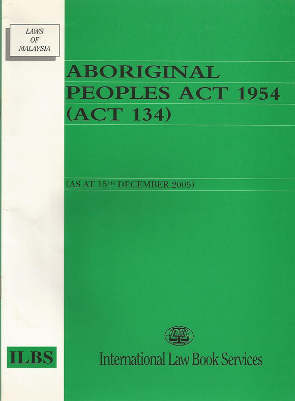 Aboriginal Peoples Act 1954(Act 134)
